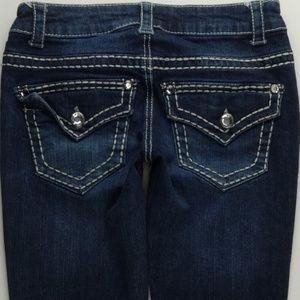 Paisley Sky Crop Capri Jeans Women's 00 Bling B210